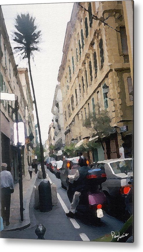 Art Metal Print featuring the photograph Busi Street by Piero Lucia