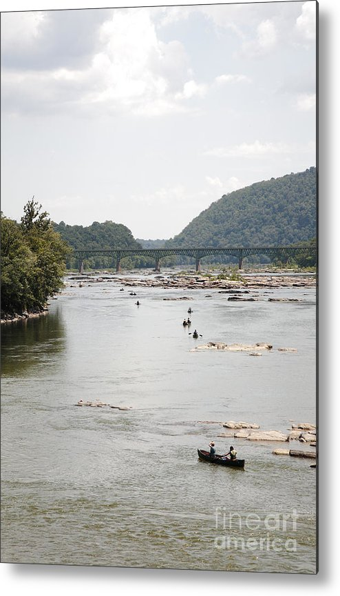 Canoe Metal Print featuring the photograph Canoeing On The Potomac River At Harpers Ferry by William Kuta