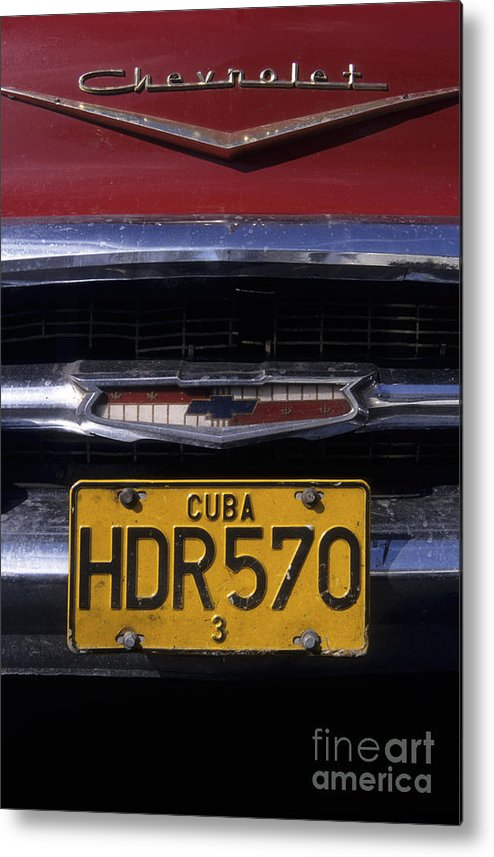 Cuba Metal Print featuring the photograph Classic Chevy In Cuba by James Brunker