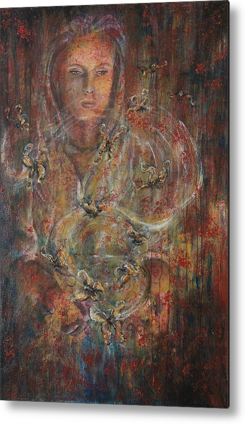 Divination Metal Print featuring the painting Divination by Nik Helbig