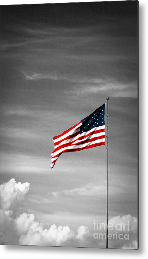 Us Flag Metal Print featuring the photograph Flying High 6 by Earl Johnson