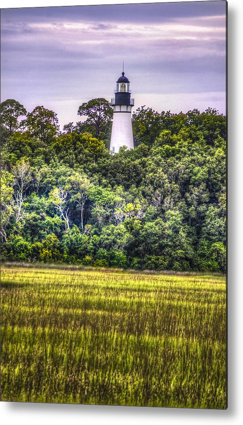 Lighthouse Metal Print featuring the photograph Lighthouse II by Island Sunrise and Sunsets Pieter Jordaan