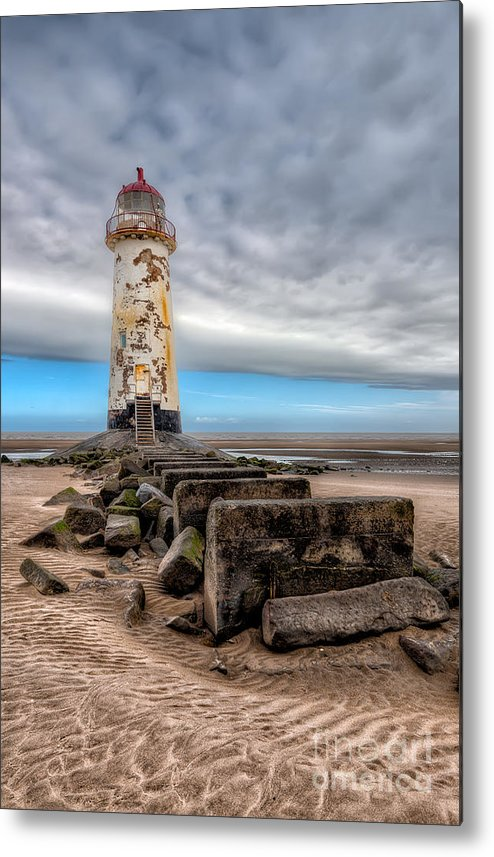 Beach Metal Print featuring the photograph Lighthouse Steps by Adrian Evans