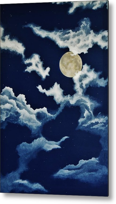 Print Metal Print featuring the painting Look At The Moon by Katherine Young-Beck