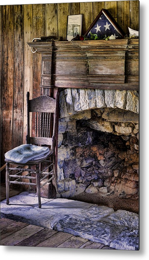 Fireplace Metal Print featuring the photograph Memories by Heather Applegate