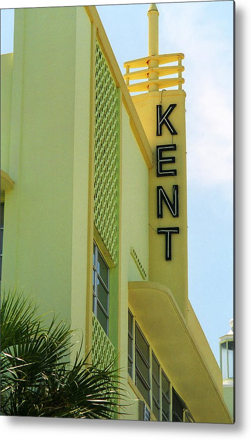 Architecture Metal Print featuring the photograph Miami Beach - Art Deco 10 by Frank Romeo