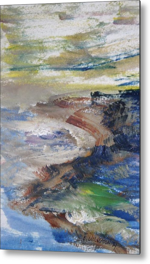 Sea Metal Print featuring the painting Pacific Coast In Autumn Light by Edward Wolverton