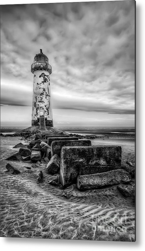Lighthouse Metal Print featuring the photograph Point Of Ayre Lighthouse by Adrian Evans