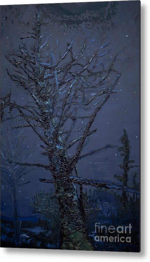 Tree Metal Print featuring the painting Rich's Pool by Jacob Mccauley