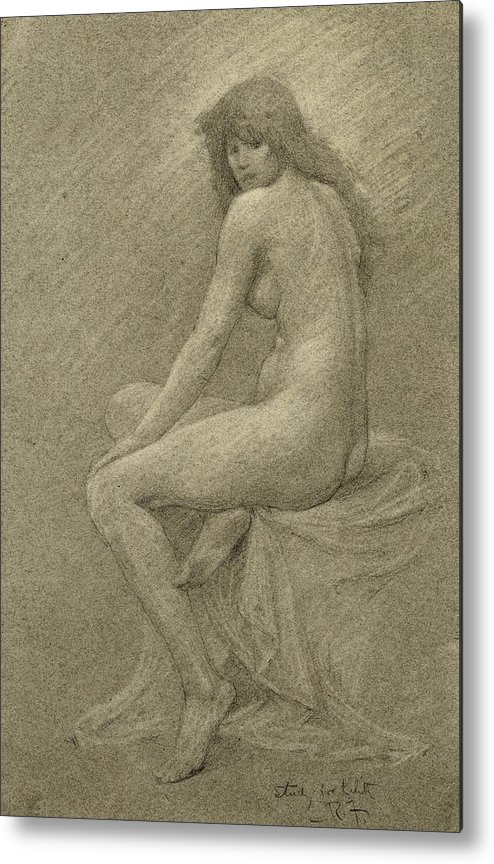Study Metal Print featuring the drawing Study For Lilith by Robert Fowler