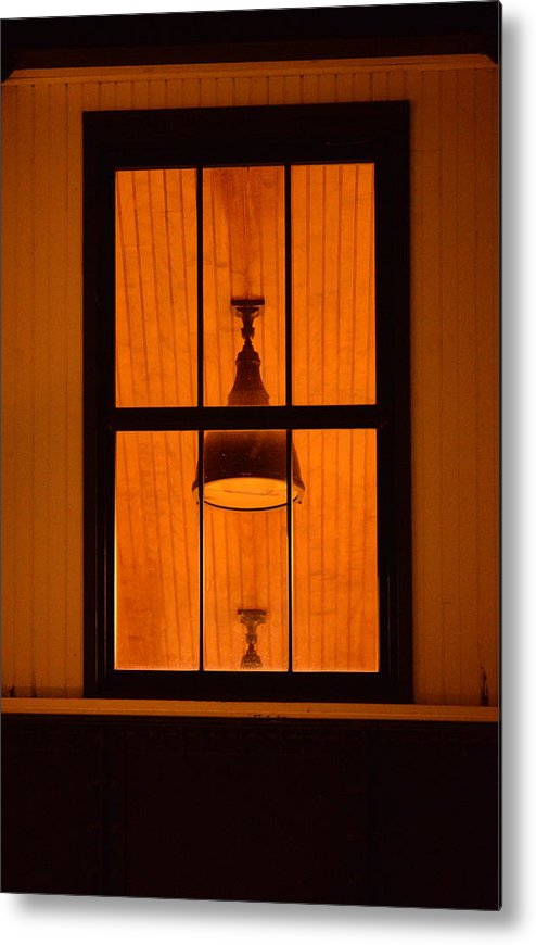Window Metal Print featuring the photograph Train Station Window by Andrew Halpern