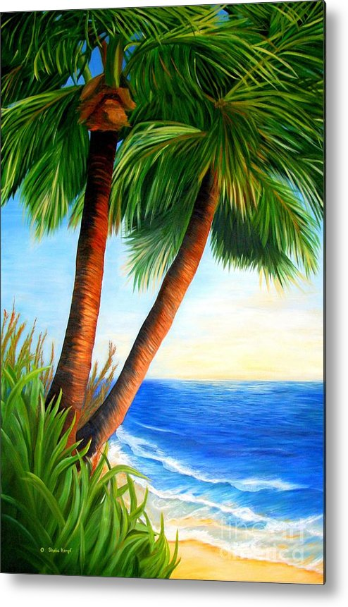 Art Metal Print featuring the painting Two Palms by Shelia Kempf