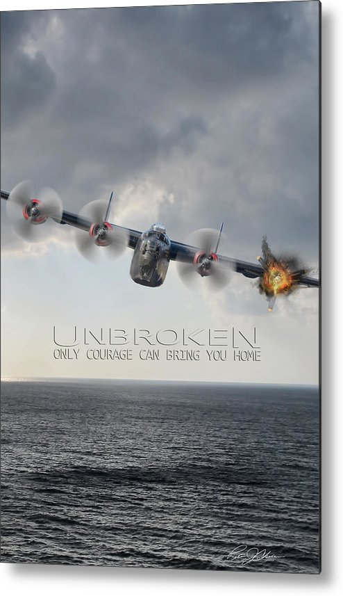 Aviation Metal Print featuring the digital art Unbroken V2 by Peter Chilelli