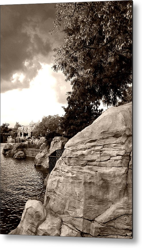 Architecture Metal Print featuring the photograph A Distant Shore by Nina Fosdick
