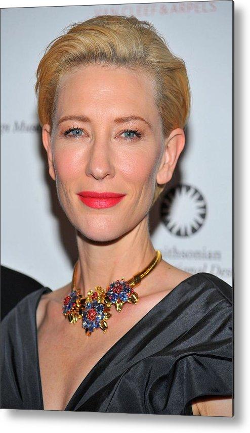 Cate Blanchett Metal Print featuring the photograph Cate Blanchett Wearing A Van Cleef & by Everett