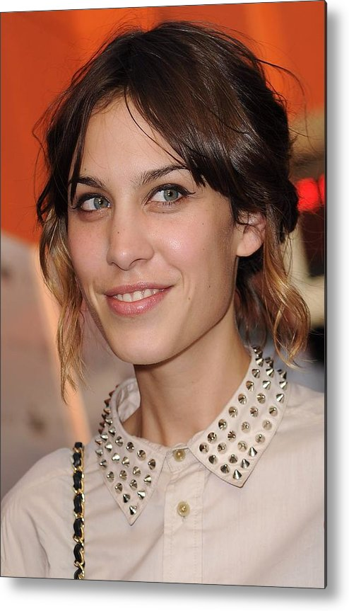 Alexa Chung Metal Print featuring the photograph Alexa Chung At Arrivals For Inglourious by Everett