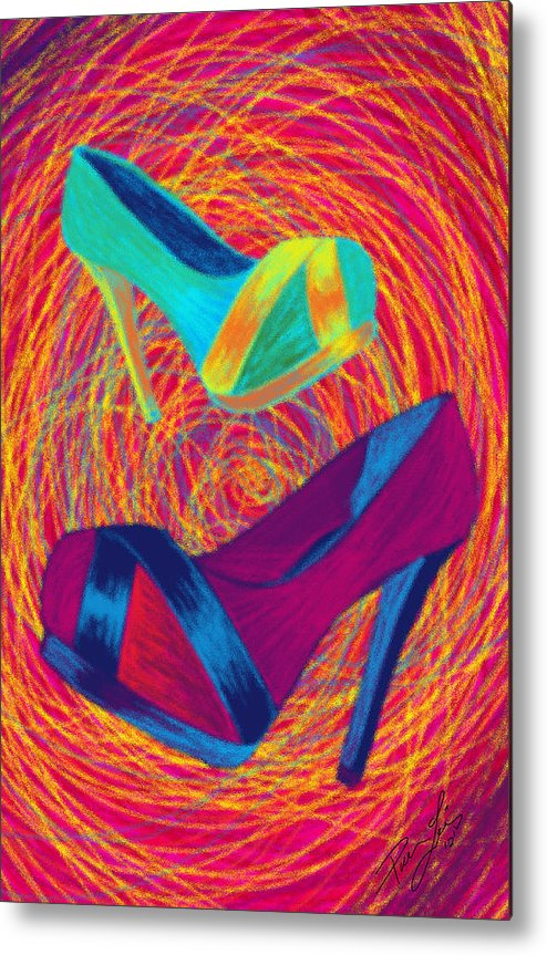 High Heels Metal Print featuring the digital art Blues Heels by Kenal Louis