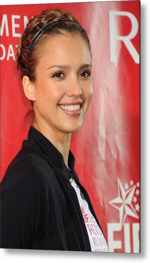 Jessica Alba Metal Print featuring the photograph Jessica Alba At A Public Appearance by Everett