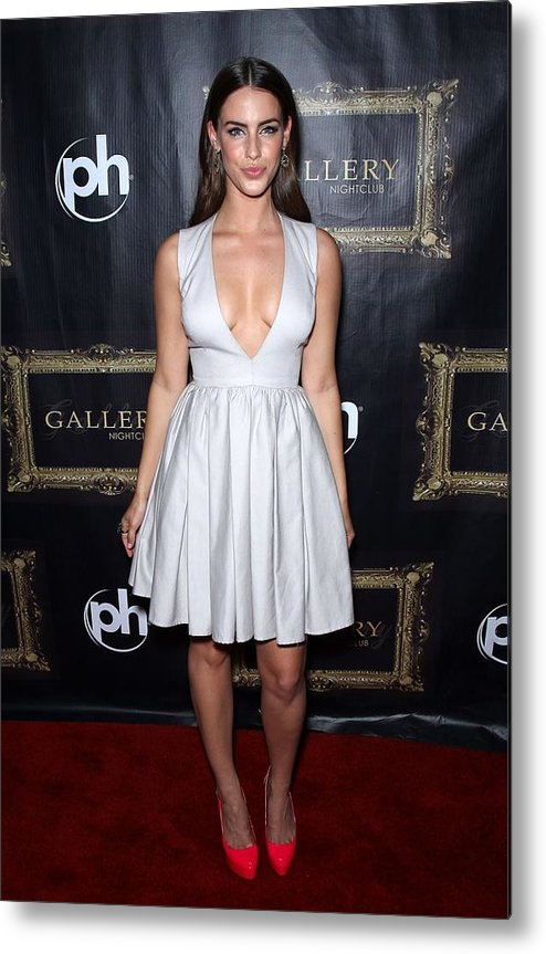 Jessica Lowndes Metal Print featuring the photograph Jessica Lowndes At Arrivals For Jessica by Everett