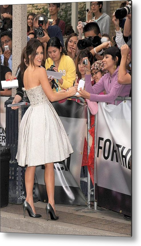 Nothing But The Truth Gala Premiere Metal Print featuring the photograph Kate Beckinsale Wearing An Elie Saab by Everett