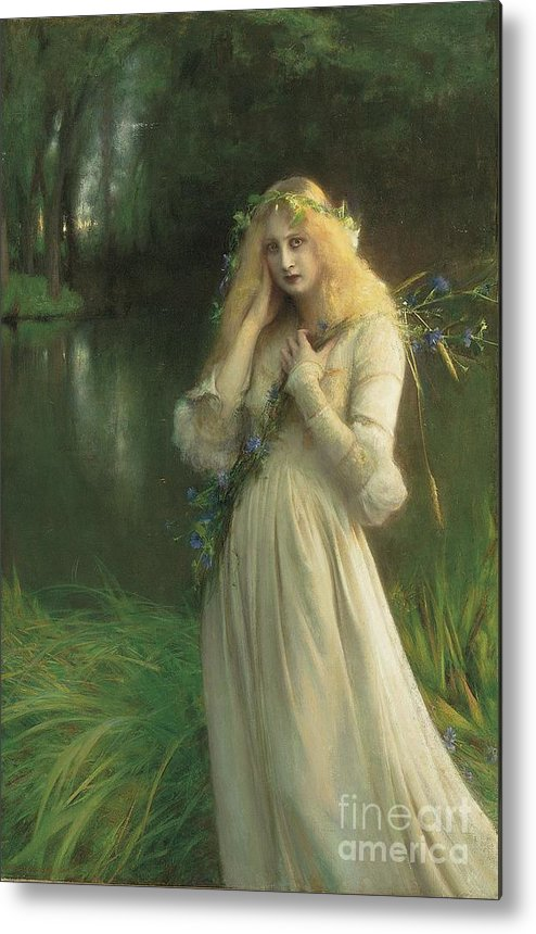 Ophelia Metal Print featuring the painting Ophelia by Pascal Adolphe Jean Dagnan Bouveret