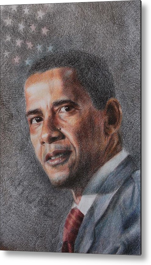 President Metal Print featuring the drawing President by Joanna Gates