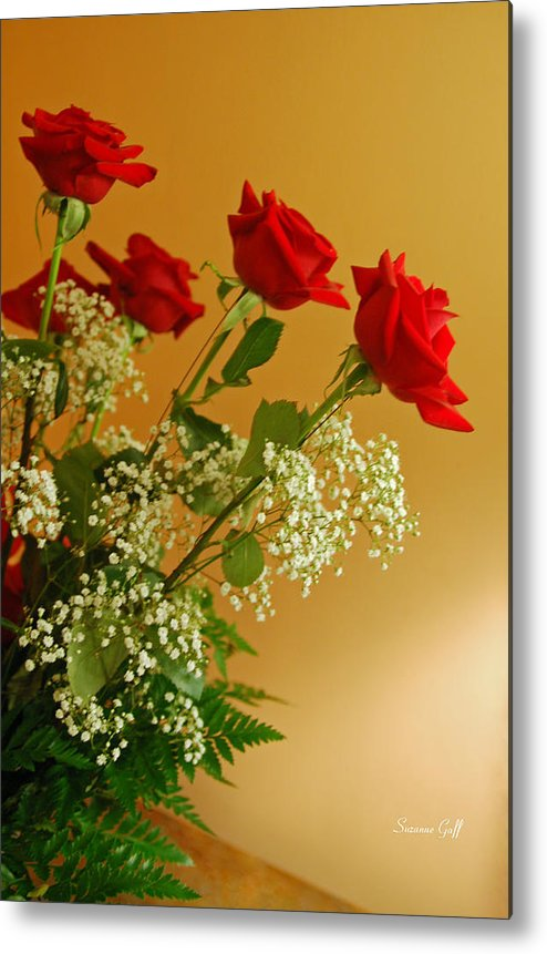 Rose Metal Print featuring the photograph Roses For Suzanne by Suzanne Gaff