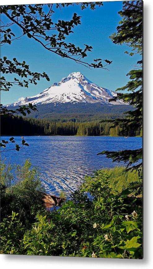 Trillium Lake Metal Print featuring the photograph Trillium Lake At Mt. Hood II by Athena Mckinzie