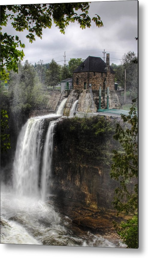 Ausable Chasm Metal Print featuring the photograph Water Power Generator by Kean Poh Chua
