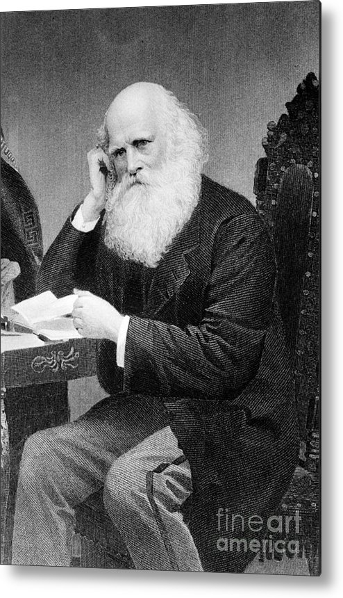 History Metal Print featuring the photograph William Cullen Bryant, American Poet by Photo Researchers
