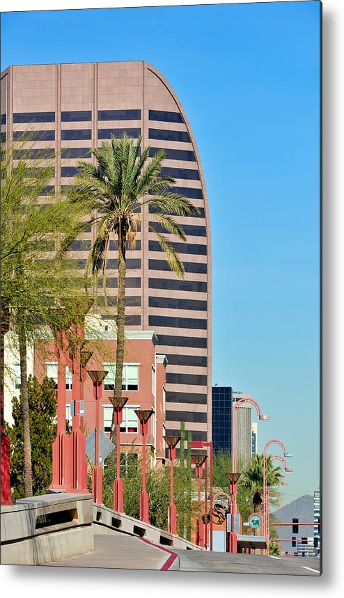 Downtown Metal Print featuring the photograph Downtown Phoenix by Tom Dowd