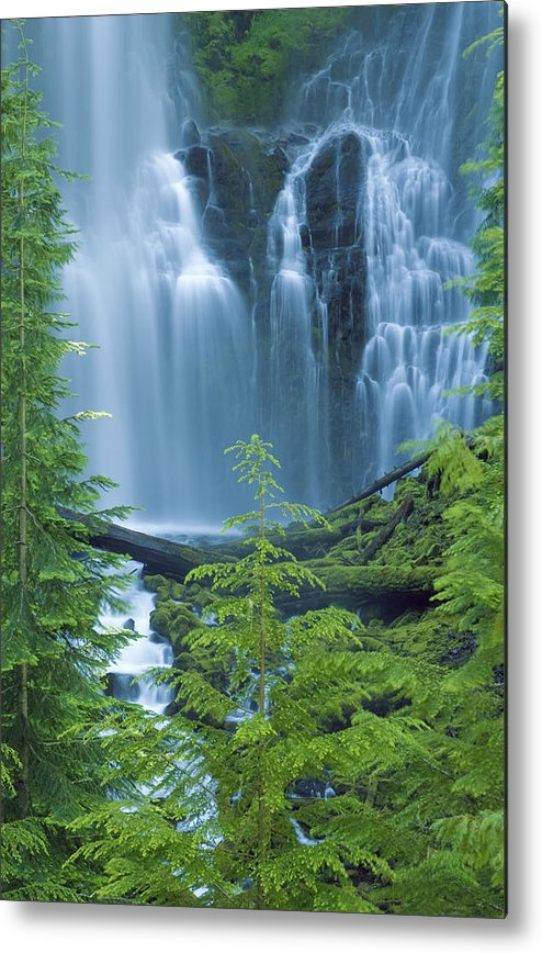 Amazing Metal Print featuring the photograph Lower Proxy Falls by Greg Vaughn - Printscapes