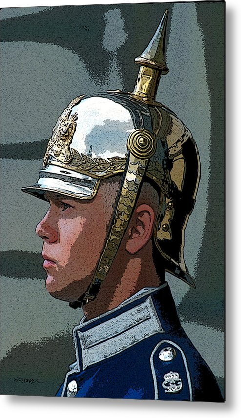 Man Metal Print featuring the photograph Royal Guard by Carl Purcell