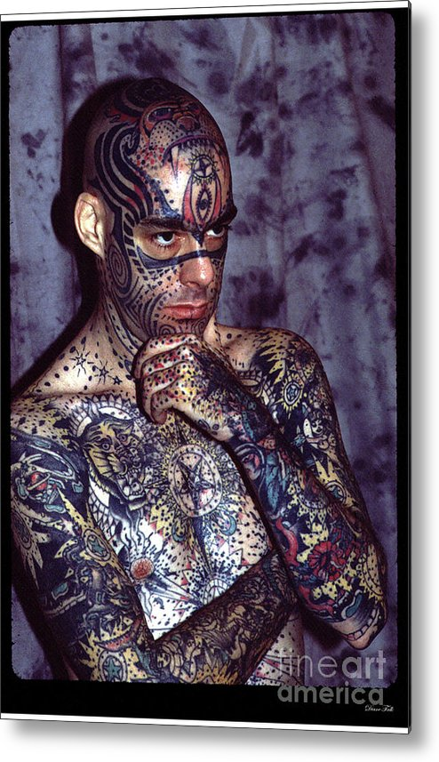 Sideshow Metal Print featuring the photograph Tattoo Mike by Diane Falk