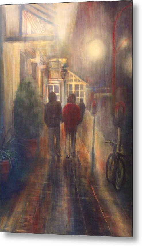 People Metal Print featuring the painting After Hours by Victoria Heryet
