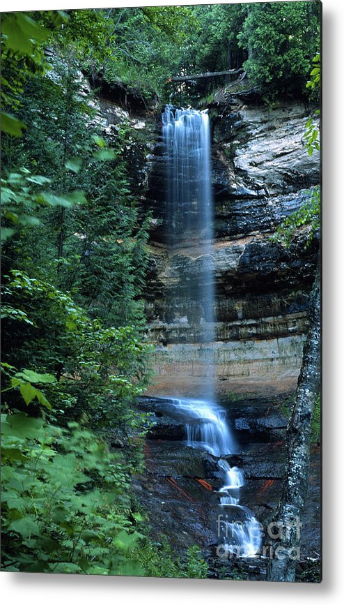 Landscape Metal Print featuring the photograph Another Munsing Waterfall by Bill Spengler