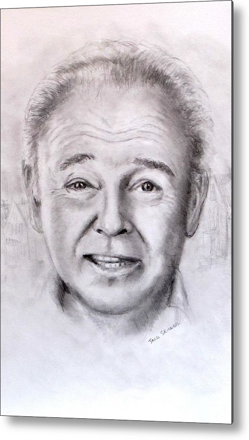 Archie Bunker Metal Print featuring the drawing Archie by Jack Skinner