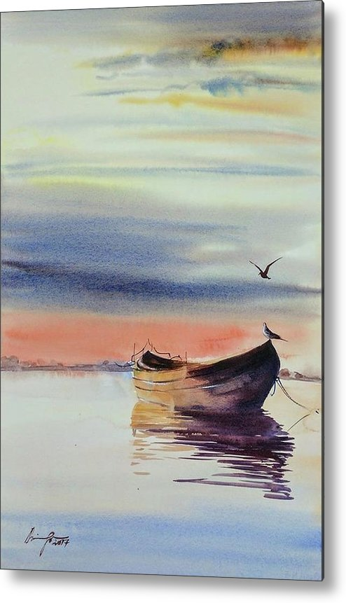 Boat Metal Print featuring the painting Boat by Shaima Adnan