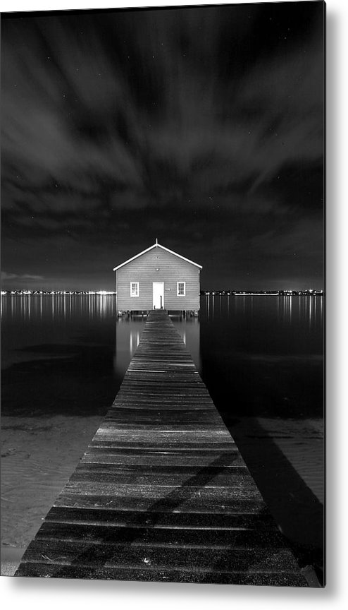 Water Metal Print featuring the photograph Boatshed by JR Images