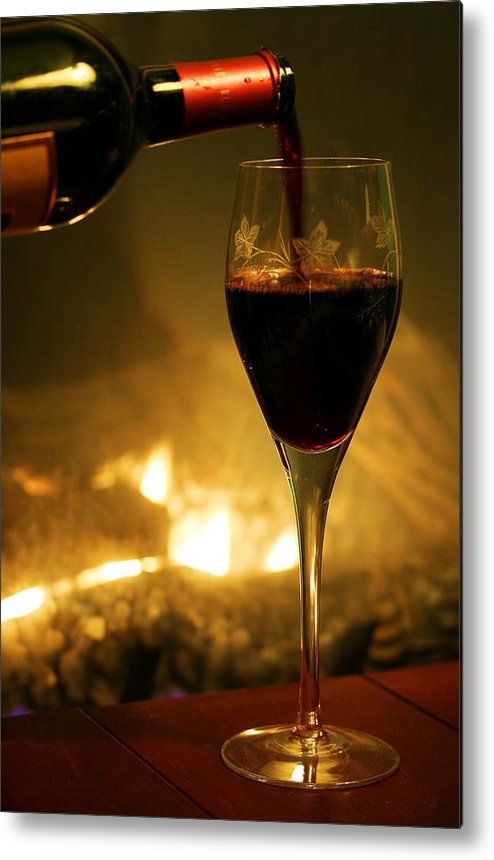 Wine Metal Print featuring the photograph Bottled Poetry by Mitch Cat