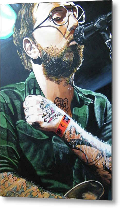 Dallas Green Metal Print featuring the painting Dallas Green by Aaron Joseph Gutierrez