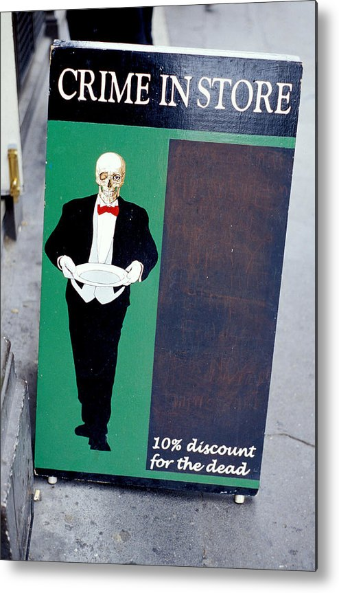 Dead Metal Print featuring the photograph Discount For The Dead by Carl Purcell