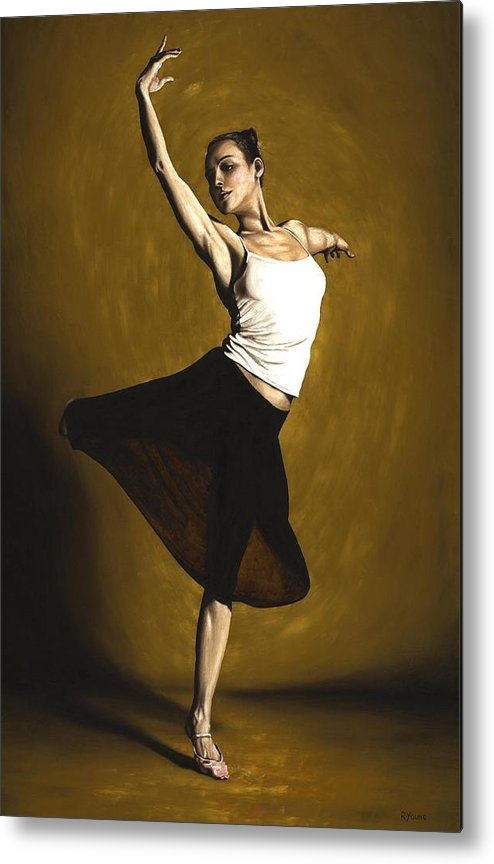Elegant Metal Print featuring the painting Elegant Dancer by Richard Young