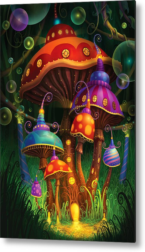 Philip Straub Metal Print featuring the painting Enchanted Evening by Philip Straub