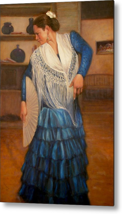 Realism Metal Print featuring the painting Flamenco 2 by Donelli DiMaria