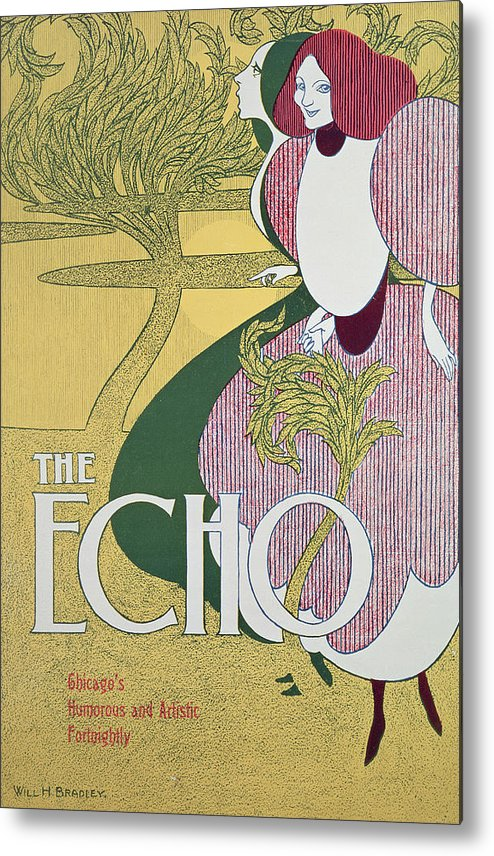 Echo Metal Print featuring the painting Front Cover Of The Echo by William Bradley