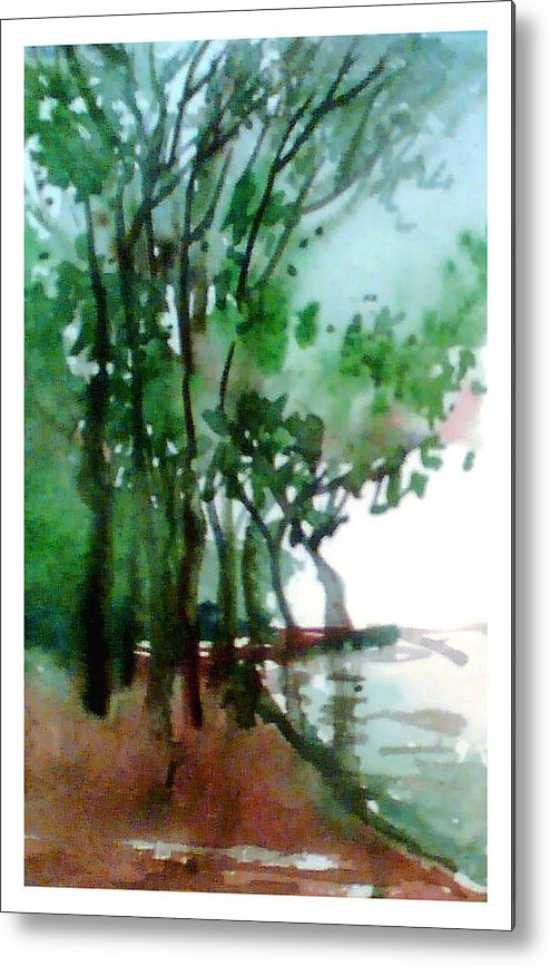 Water Color Metal Print featuring the painting Greens by Anil Nene