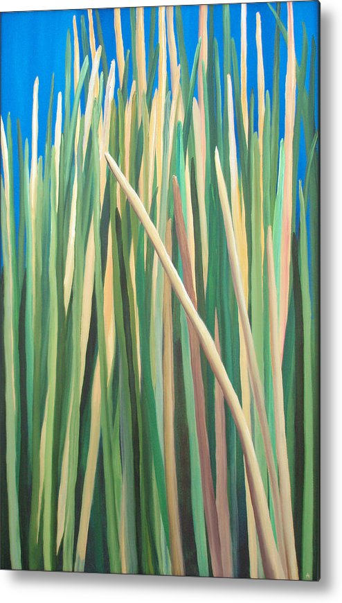 Grass Metal Print featuring the painting Ire-land by Amanda Jordan