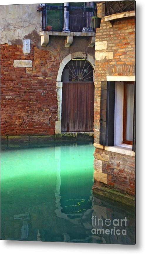 Venice Metal Print featuring the photograph Light On Canal In Venice by Michael Henderson