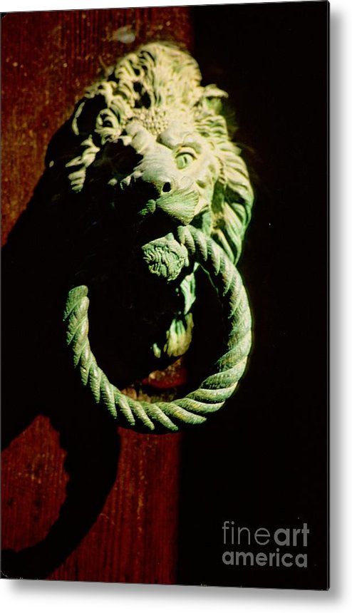 Venice Metal Print featuring the photograph Lion Door Knocker In Venice by Michael Henderson